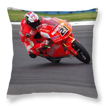 Moto Grand Prix 2015 Throw Pillow by Blair Stuart