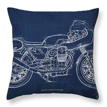 Moto Guzzi V7 Racer Motorcycle Throw Pillow