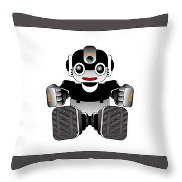 Moto-hal Throw Pillow