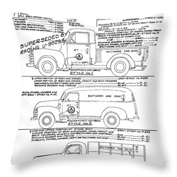 Motor Vehicles Throw Pillow