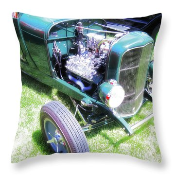 Motor Wheel Throw Pillow