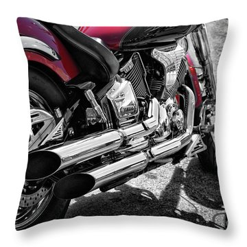 Motorbike From Yamaha Throw Pillow by Stephan Grixti