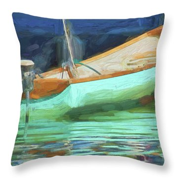 Motorboat - Reflection Throw Pillow