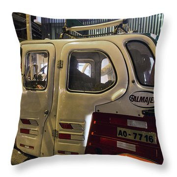 Motorcycle Cab In Lima, Peru Throw Pillow