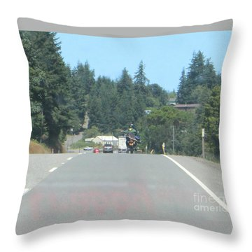 Throw Pillow featuring the photograph Motorcycle Club Aka Four by Marie Neder