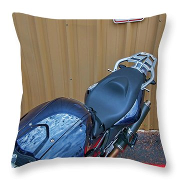 Throw Pillow featuring the photograph Motorcycle Privilege by Britt Runyon
