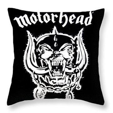 Motorhead Throw Pillow by Gina Dsgn