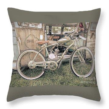 Motorized Bike Throw Pillow