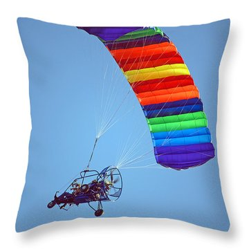 Motorized Parasail 2 Throw Pillow by Kenneth Albin