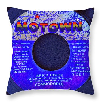Motown And Commodores Throw Pillow