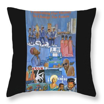 Motown Commemorative 50th Anniversary Throw Pillow