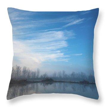 Mottled Sky Throw Pillow
