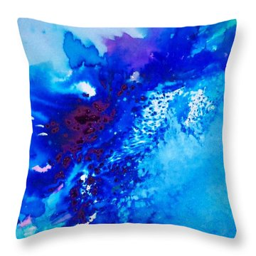 Throw Pillow featuring the painting Motu Arutua by Ed  Heaton