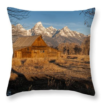 Throw Pillow featuring the photograph Moulton Barn by Gary Lengyel