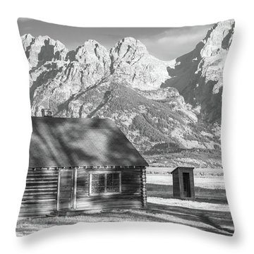Throw Pillow featuring the photograph Moulton Homestead - Bunkhouse by Colleen Coccia
