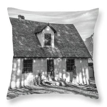 Throw Pillow featuring the photograph Moulton Homestead - Pink House by Colleen Coccia