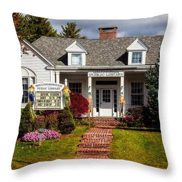 Moultonborough Public Library Throw Pillow