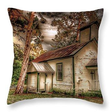 Moultrie Church At Dusk Throw Pillow