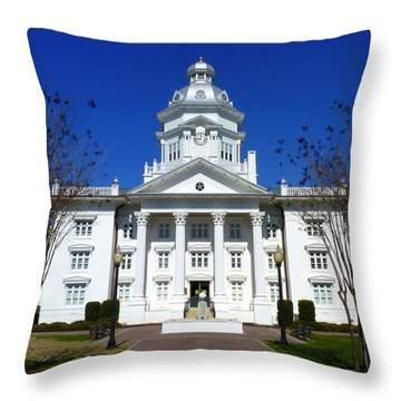 Moultrie Courthouse Throw Pillow by Carla Parris