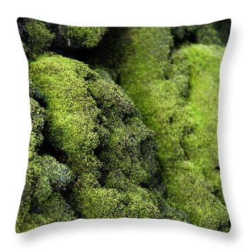 Mounds Of Moss Throw Pillow