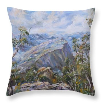 Mount Abrupt Grampians Victoria Throw Pillow