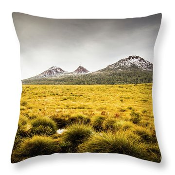 Mount Arrowsmith Tasmania Australia Throw Pillow