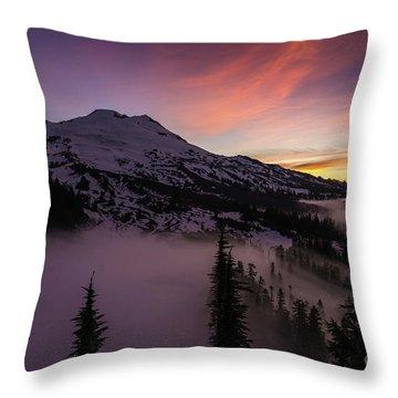 Mount Baker Sunrise Peaceful Morning Throw Pillow