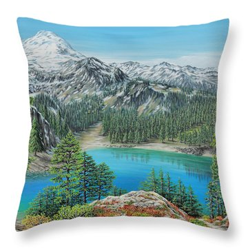 Mount Baker Wilderness Throw Pillow