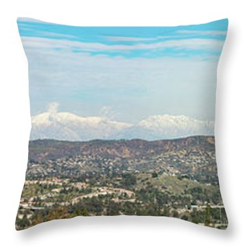 Mount Baldy And Mountain High Throw Pillow by Angela A Stanton