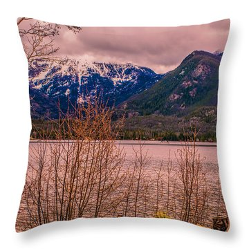 Mount Baldy From Point Park Throw Pillow