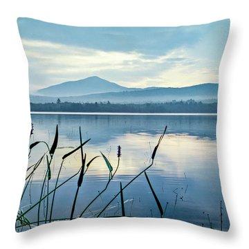 Mount Blue Throw Pillow
