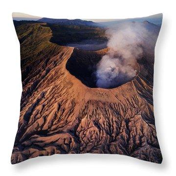 Mount Bromo At Sunrise Throw Pillow