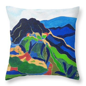 Mount Canigou Throw Pillow