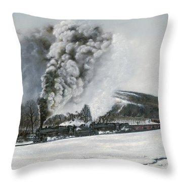 Mount Carmel Eruption Throw Pillow