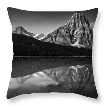Mount Chephren Reflection Throw Pillow