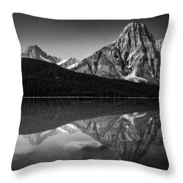 Mount Chephren Reflection Throw Pillow