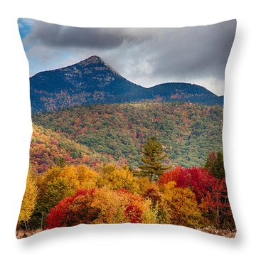 Throw Pillow featuring the photograph Peak Fall Colors On Mount Chocorua by Jeff Folger