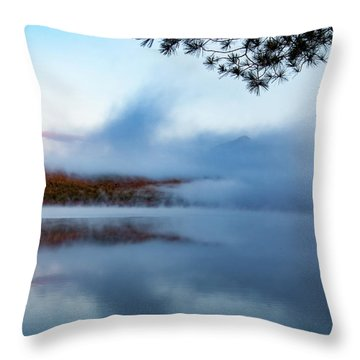 Throw Pillow featuring the photograph Mount Chocorua Peeks Above The Fog by Jeff Folger