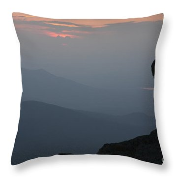 Mount Clay Sunset - White Mountains New Hampshire Usa Throw Pillow
