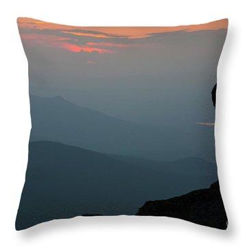 Mount Clay Sunset - White Mountains, New Hampshire Throw Pillow