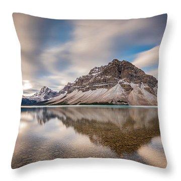 Mount Crowfoot Reflection Throw Pillow