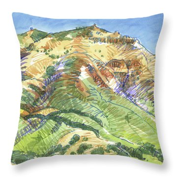 Mount Diablo From Curry Valley Ridge Throw Pillow