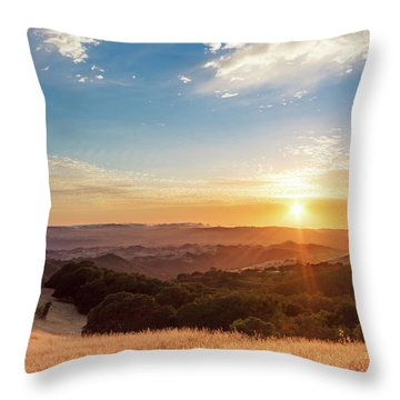 Mount Diablo Sunset Throw Pillow