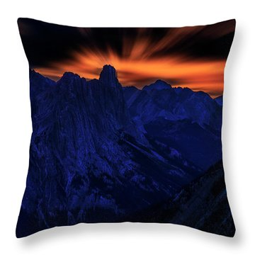 Mount Doom Throw Pillow