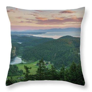 Mount Erie Viewpoint Throw Pillow