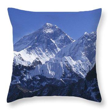 Mount Everest Nepal Throw Pillow by Rudi Prott