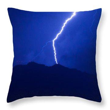 Mount Franklin Lightning Throw Pillow