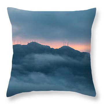 Mount Franklin Stormy Winter Sunset Pano Throw Pillow