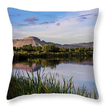 Mount Garfield In The Evening Light Throw Pillow
