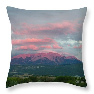Mount Gunnison Sunset In Colorado Throw Pillow